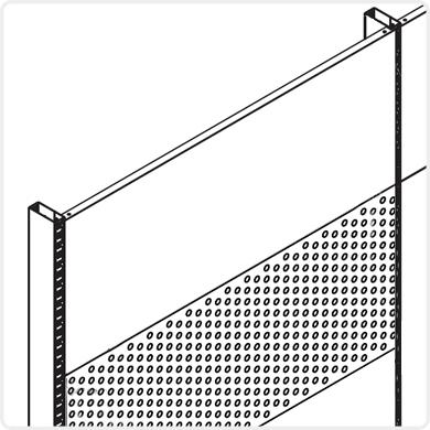 Imagine pentru categorie Panouri de spate pline si perforate, capace de gondola