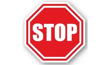 "Imagine  ""STOP"" BANDA ADEZIVA 30.5CM ROSU/ALB"